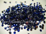 High Quality 2mm Nail Art Rhinestones Gem BLUE 100pcs